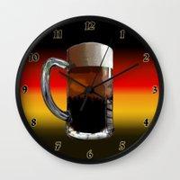 german Wall Clocks featuring German Sunset by G.B.Artdesign