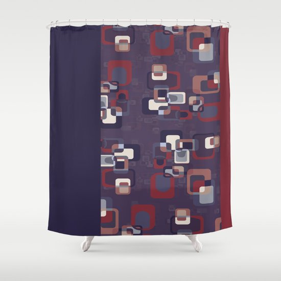 Groovy Squares Shower Curtain