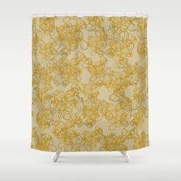 Tangled Flowers Shower Curtain
