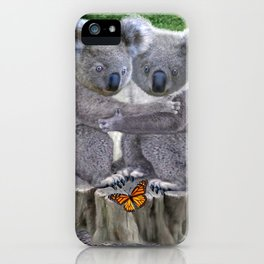 Baby Koala Huggies iPhone Case