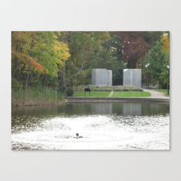 Fountain in the Park Canvas Print