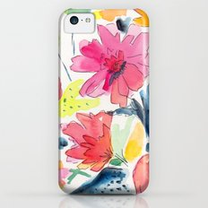 Floral watercolor illustration pattern Slim Case iPhone 5c
