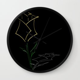 Yellow Rose (Rose Alix) Wall Clock