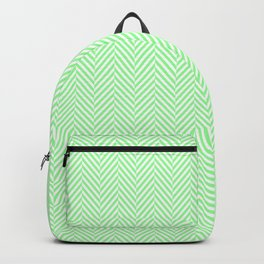 Classic Mint Green & White Herringbone Pattern Backpack