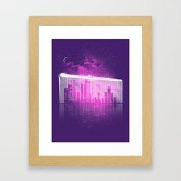 La Ville au Peigne Fin Framed Art Print