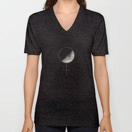 Moon and Woman Symbol Unisex V-Neck
