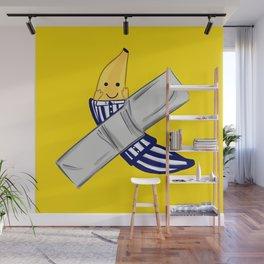 banana in ducttape pijama ecopop Wall Mural