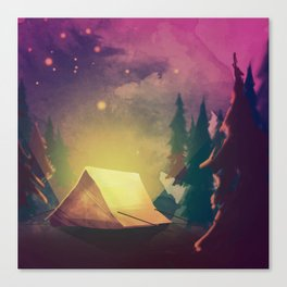 Night in th forest Canvas Print