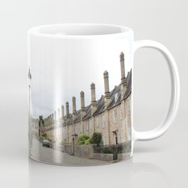 Wells Cathedral Classic/historic/old houses and side street in England Coffee Mug