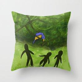Cross Jungle Parrot Throw Pillow