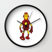 bender Wall Clocks featuring Iron Bender by Andy Whittingham