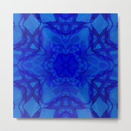 Blue kaleidoscope 2 Metal Print