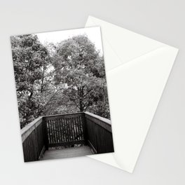 Boardwalk (Black and White Film) Stationery Cards