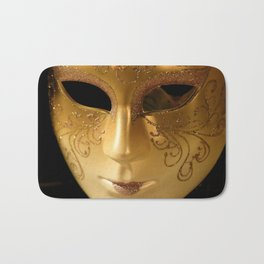 Venetian Mask Venice Italy Bath Mat