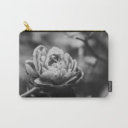 Perfect Petals High Contrast Black and White Nature / Floral Photograph Carry-All Pouch