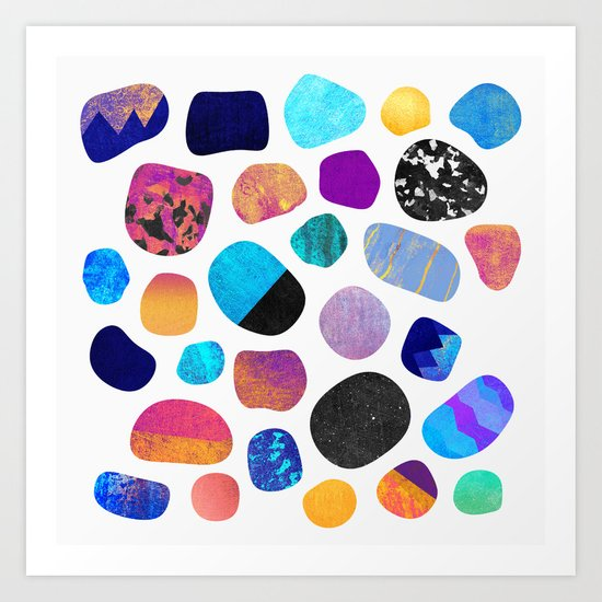 Magic Stones (Light background) Art Print