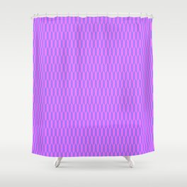 Modern abstract  geometrical blush pink violet pattern Shower Curtain