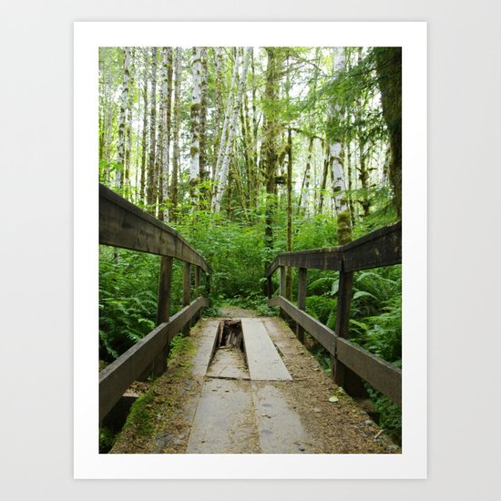 Watch Your Step! Art Print