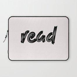 read - handmade caligraphy Laptop Sleeve