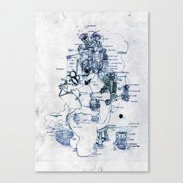 Zihni Canvas Print