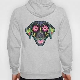 Labrador Retriever - Black Lab - Day of the Dead Sugar Skull Dog Hoody