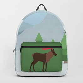 Winter in the mountains Backpack