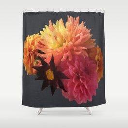 Flemish style Fall Dahlias Shower Curtain