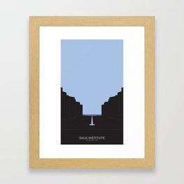 SALK INSTITUTE Framed Art Print