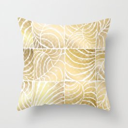 Tropic Gold Throw Pillow