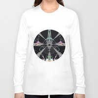 the lights Long Sleeve T-shirts featuring Lights by Design Windmill