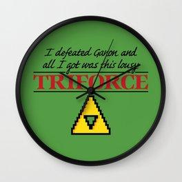 Lousy Triforce Wall Clock