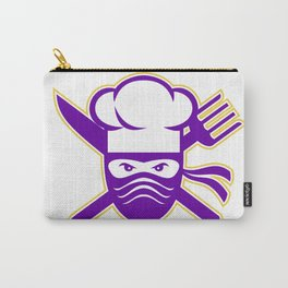 Ninja Chef Crossed Knife Fork Icon Carry-All Pouch