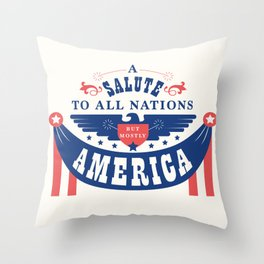 A Salute To All Nations Throw Pillow