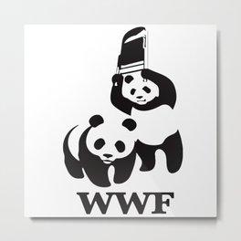 smack panda Metal Print