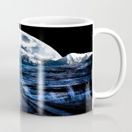 Road to Eternity (blue vintage moon mountain) Coffee Mug