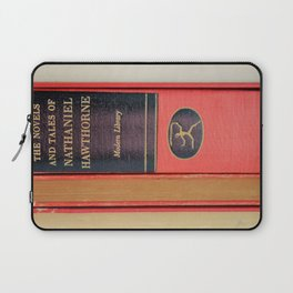 Modern Library in Red Laptop Sleeve