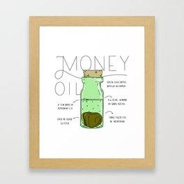 Money Oil - Magic Abundance Potion Framed Art Print