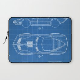 Classic Car Patent - American Car Art - Blueprint Laptop Sleeve