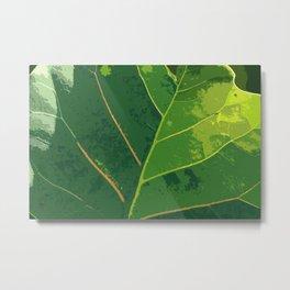 Green Green Leaf Metal Print