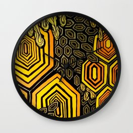 Hexagonal Reflections of an Empty Hive Wall Clock
