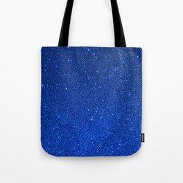 Sapphire September Libra Blue Birthstone Shimmering Glitter Tote Bag