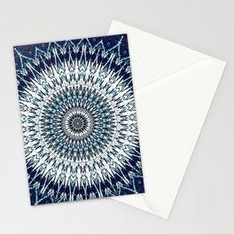 Indigo Navy White Mandala Design Stationery Cards