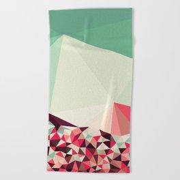 Poppy Field Tris Beach Towel