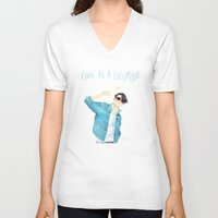 ezra koenig V-neck T-shirts featuring Cool as a cucumber by Galaxyspeaking