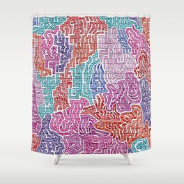 The Jail Cell in My Mind Shower Curtain
