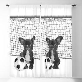 French Bulldog - Soccer Goal - Frenchie Dog Blackout Curtain