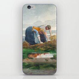 Winslow Homer - The Mussel Gatherers, 1881 iPhone Skin