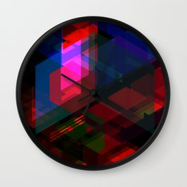 Abstract effect of hologram Wall Clock