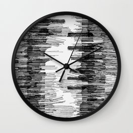Polyline Distortion Wall Clock