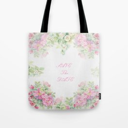Save The Date  - Garland of roses Watercolor painting Tote Bag